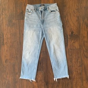 A&F High Rise Straight Ankle Jeans - Size 10 (30)